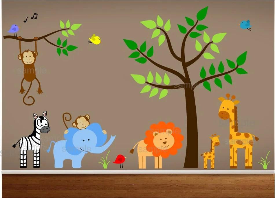Safari animal paintings for Safari decorations for the home
