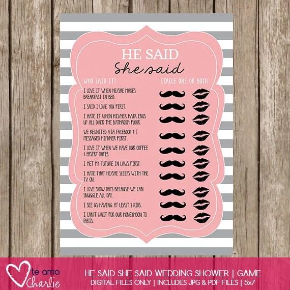 Bridal Shower 10 Questions