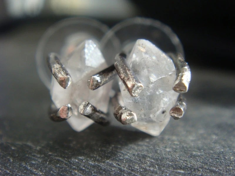 Herkimer Diamond Earrings - JennKoDesign