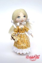 Angel Doll Lucy, cloth art doll,OOAK, fabric, rag, textile, collectible doll, unique