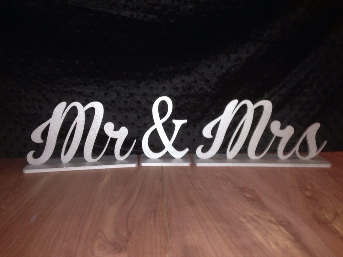 Mr & Mrs Sign, Mr And Mrs Wedding Sign, Mr. Mrs. Sweet