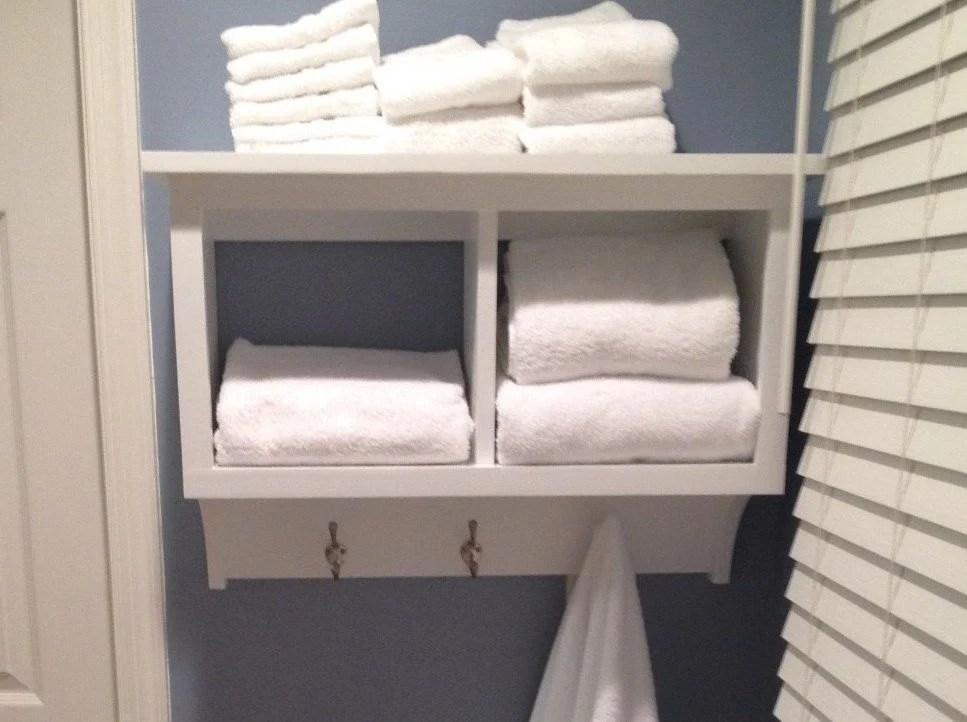 Towel Rack Cubby Wall Shelf Bathroom Holder By