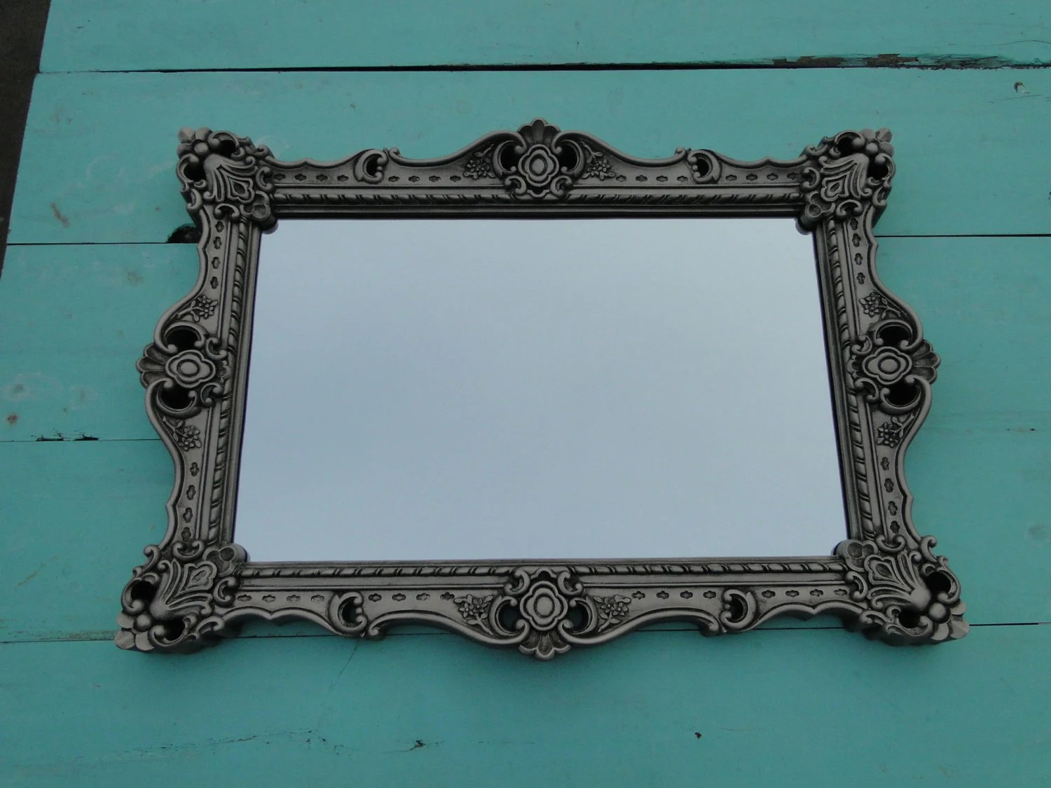 Extra Large Ornate Vintage Mirror Wall Mirror Silver By