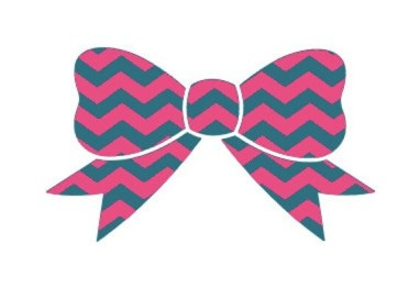 chevron vinyl bow decal free shipping by cuttincrazy on etsy