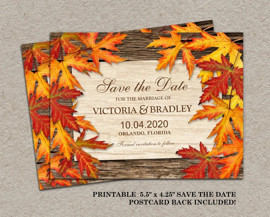 Fall Save Date Cards