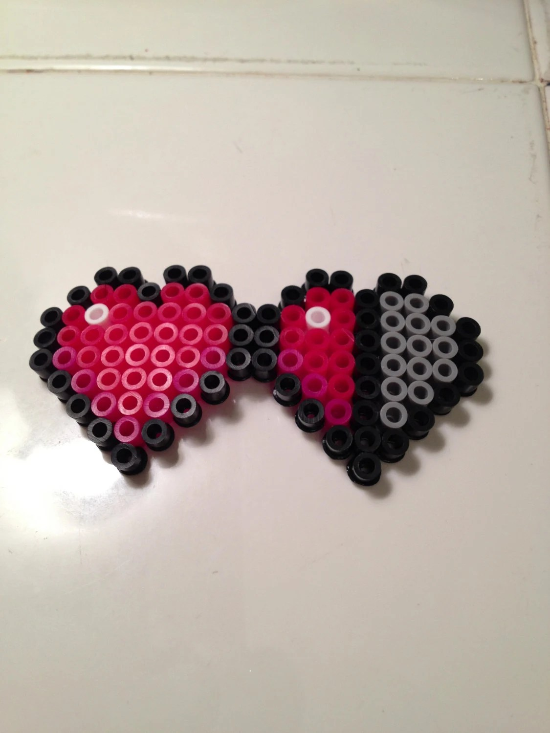 Bead Minecraft Perler Heart