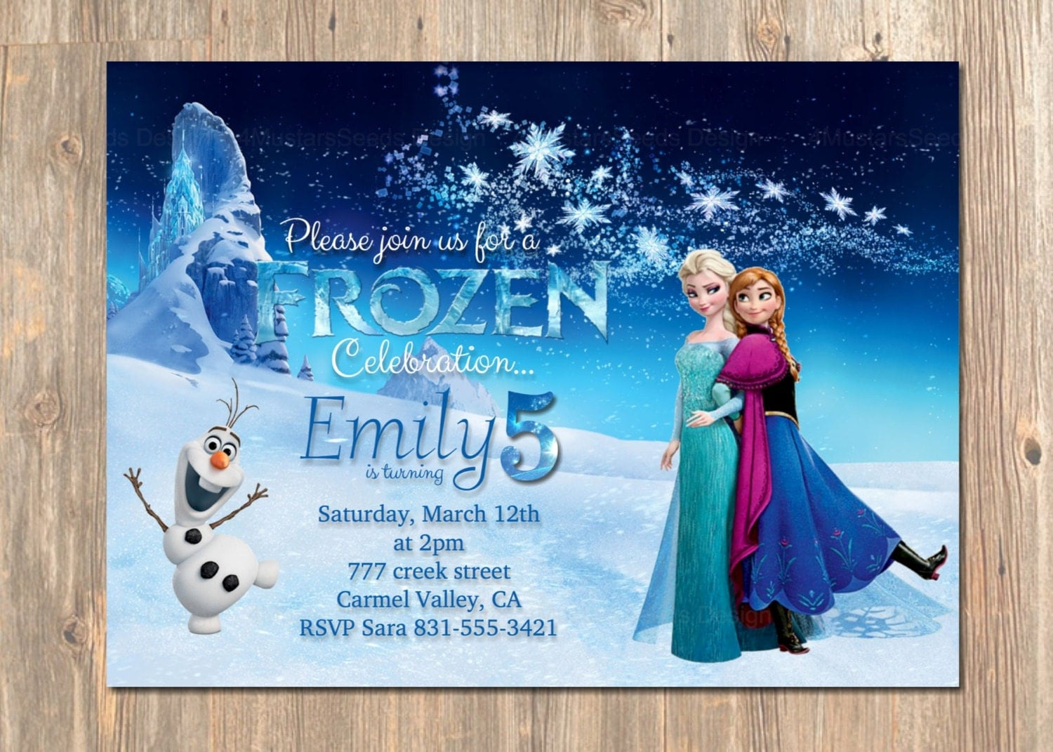 Printable Elsa Invitations