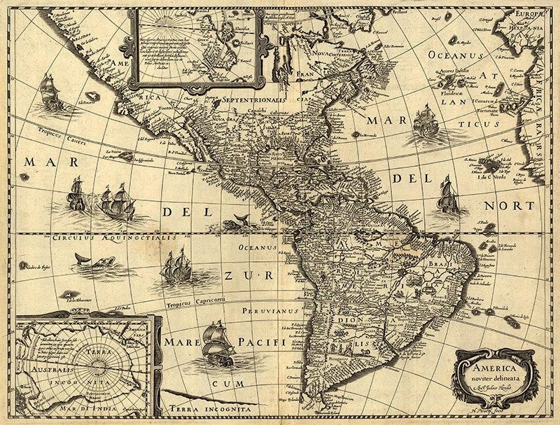 World Maps Monsters Sea 1500s