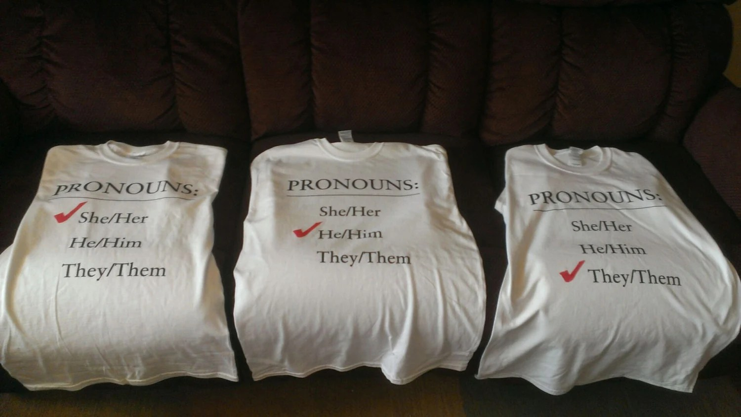 Pronoun T Shirts He Him She Her They Them Express Yourself
