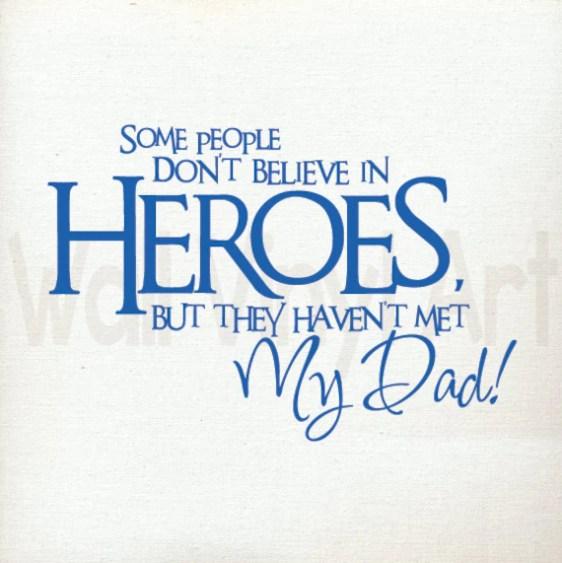 Dad Hero Decal by WallVinylArt