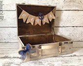 Nautical Wedding Card Box, Suitcase Style Card Box/Trunk - LoRustique