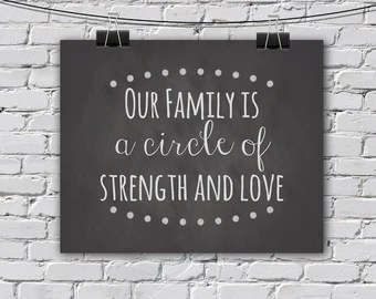 Download INSTANT DOWNLOAD //Our Family is a circle of strength and ...