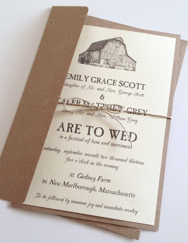 Rustic Wedding Reception Invitations
