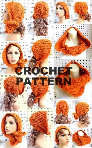 Schabeod Hooded Cowl Pattern Cowl Scarf Pattern Crochet Hood