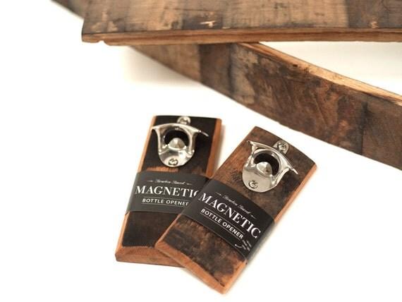 Magnetic Bottle Opener-Reclaimed Bourbon Barrel