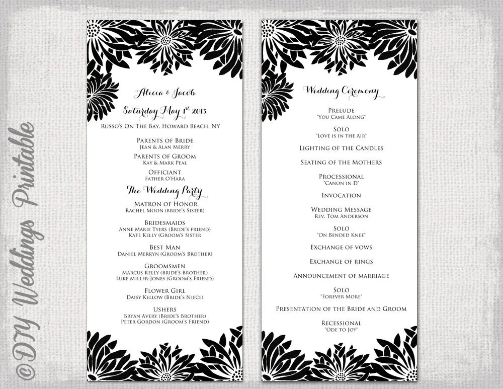 Wedding Ceremony Outline