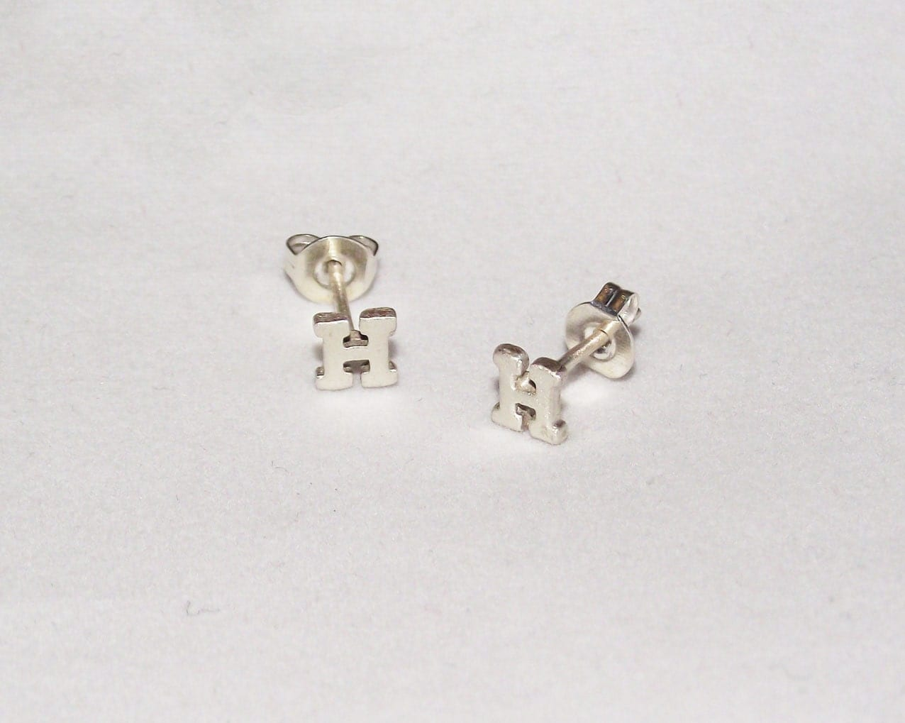 Initial Earrings Tiny Stud Earring Personalized Alphabet