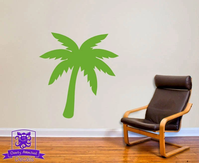 Tropical Palm Tree Wall Decal Decor