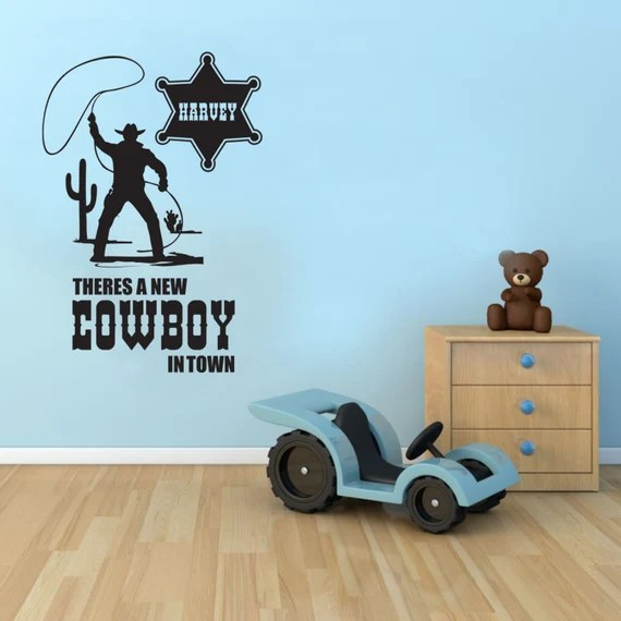 New Cowboy in Town Decal by TheStickerStop