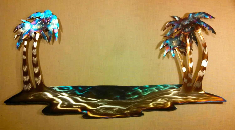 Hawaiian Pacific Tropical Island Hawaii Palm Tree Steel Metal