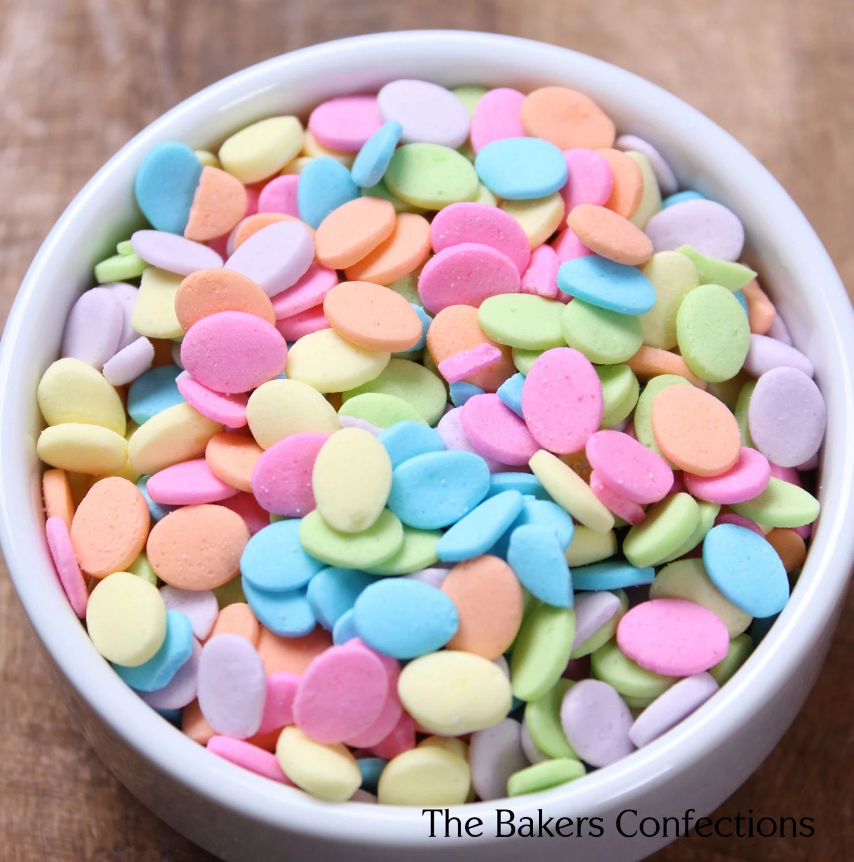 Pastel Easter Egg Sprinkles for Cupcakes, Cookies, Cake Pop Decorating (LARGE JAR 4 oz) - thebakersconfections