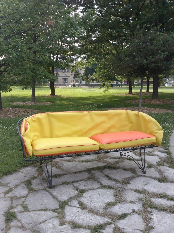 SALE Vintage Mid Century Modern Patio Furniture Wire Cage