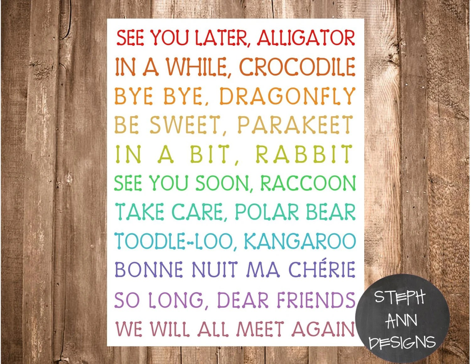 See You Later Alligator Printable Digital By Stephanndesigns
