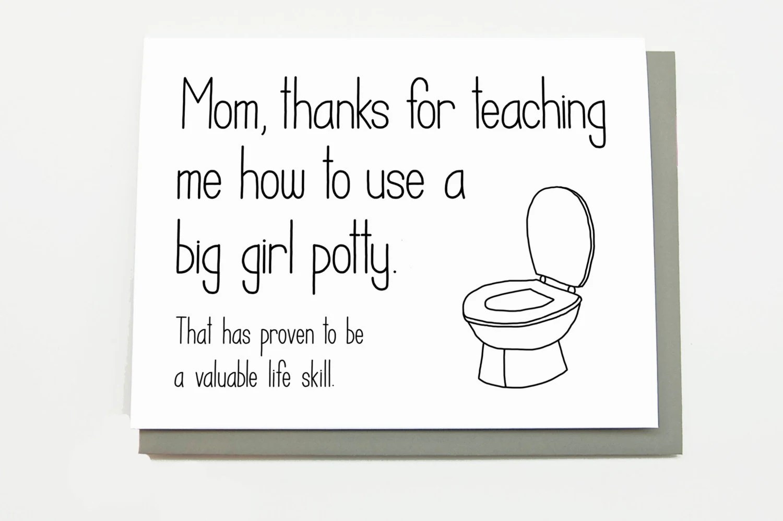 Funny Mother S Day Card Mum Mom Birthday By Cheekykumquat
