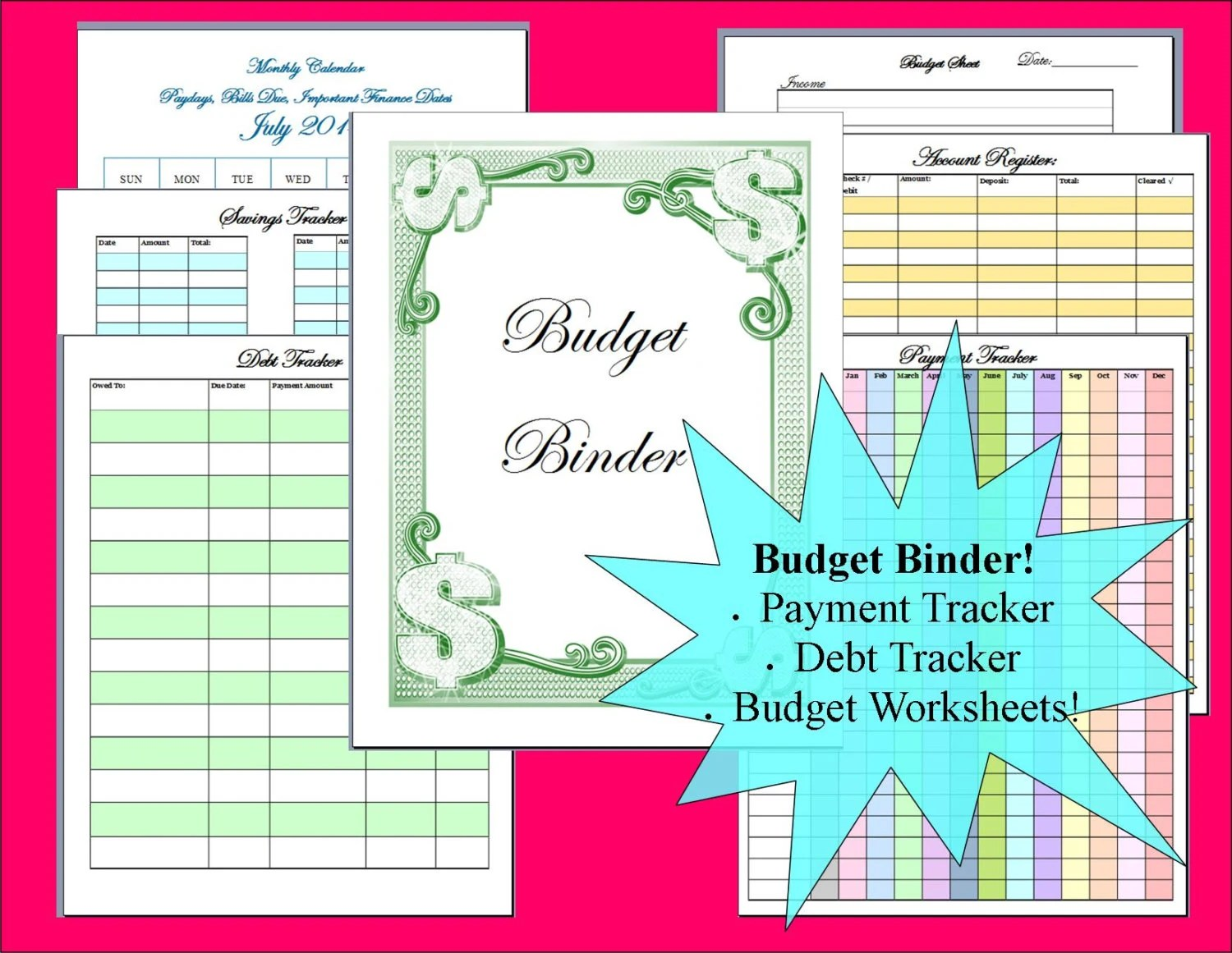 Budget Binder Printable Monthly Calendar With Budget