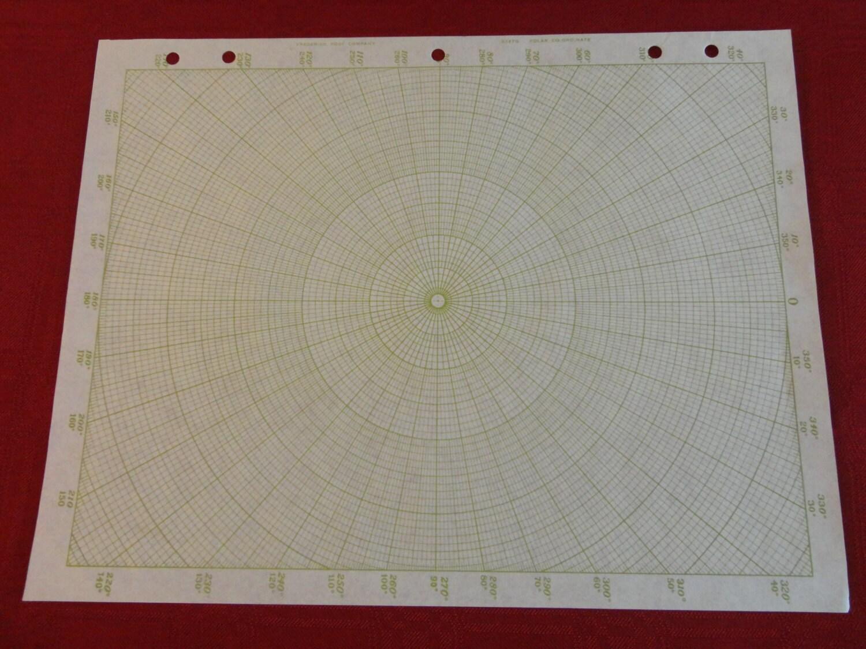 Polar Coordinate Graph Paper Frederick Post 334tg