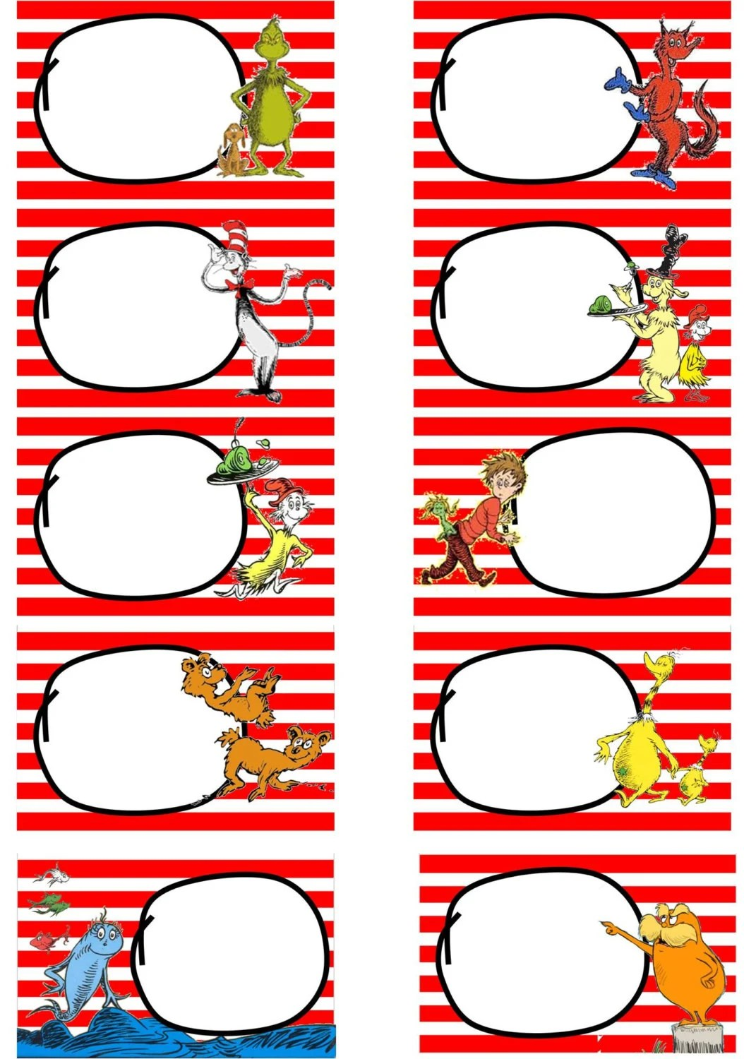 Instant Download Dr Suess Cat In The Hat By