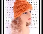 OMBRETTA Hand Knit Hat Womens Beanie Hat, Knit Beanie Hat, Ribbed Beanie, Orange Beanie Hat, Orange Hat