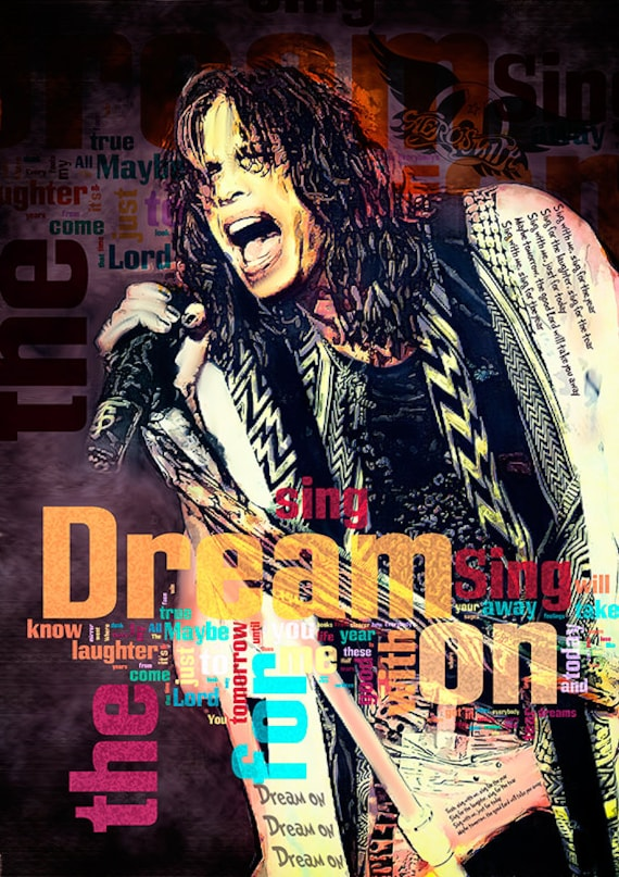 Items Similar To Print Steven Tyler AEROSMITH Music Poster