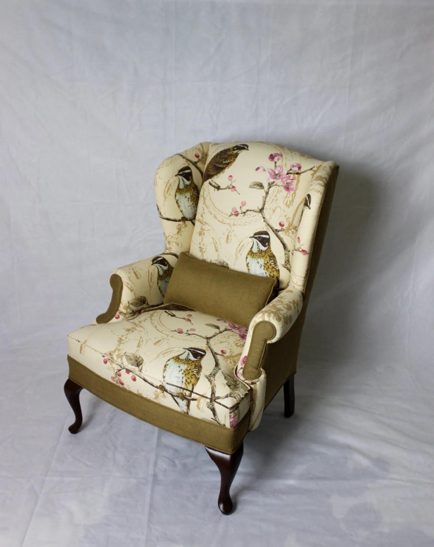 Bird Print Accent Chair