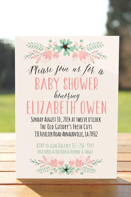 Original Baby Shower Invitations