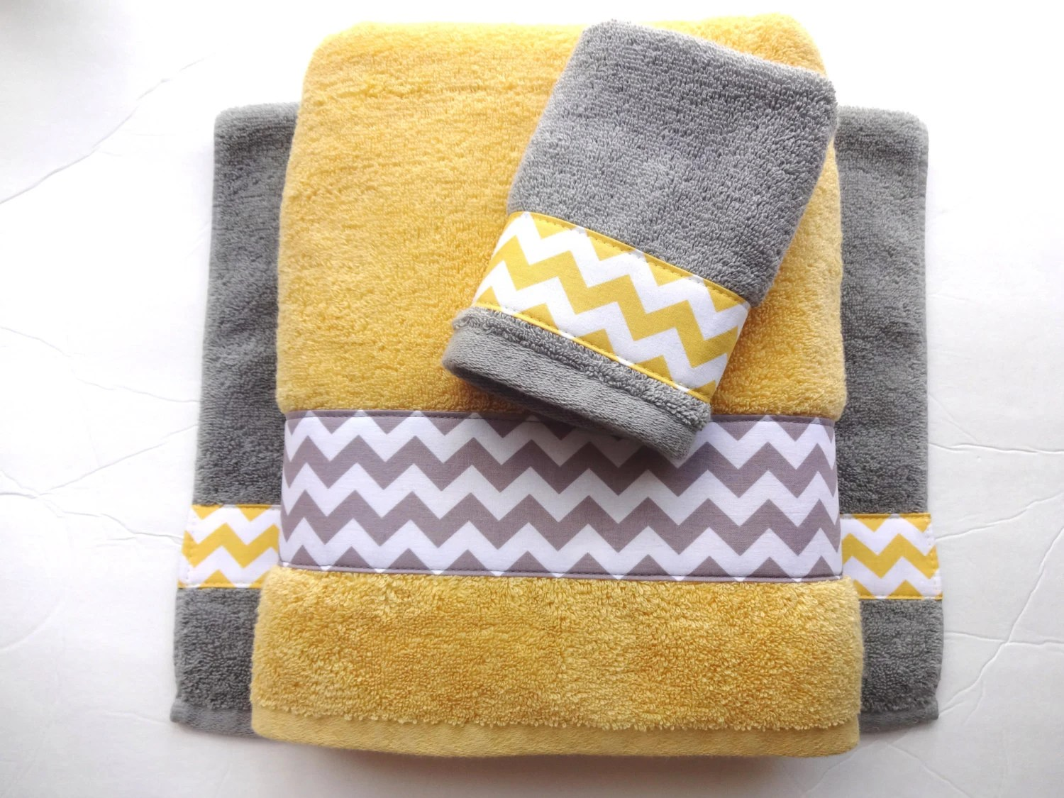 Yellow And Grey Bathroom Accessories