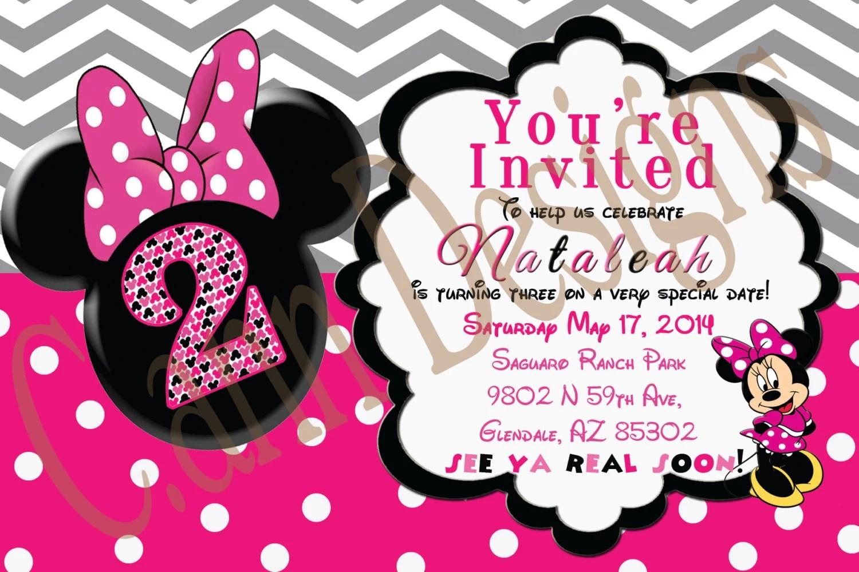 Birthday Invitations Minnie Mouse