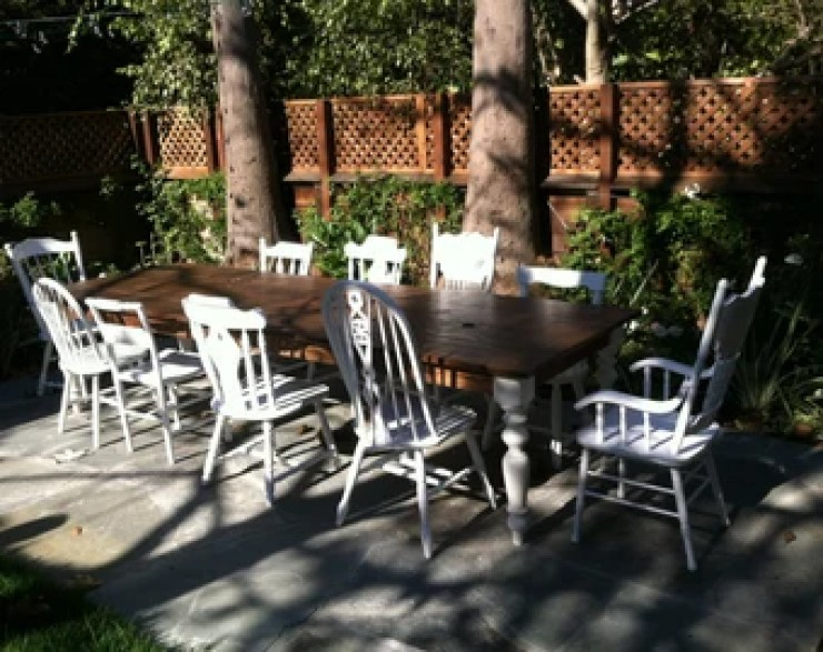 Image result for old table and mismatched chairs outdoor restaurant, panama