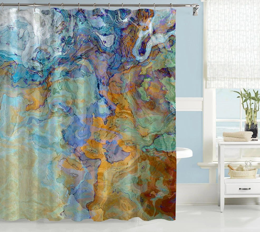 Machine Washable Shower Curtain Liner