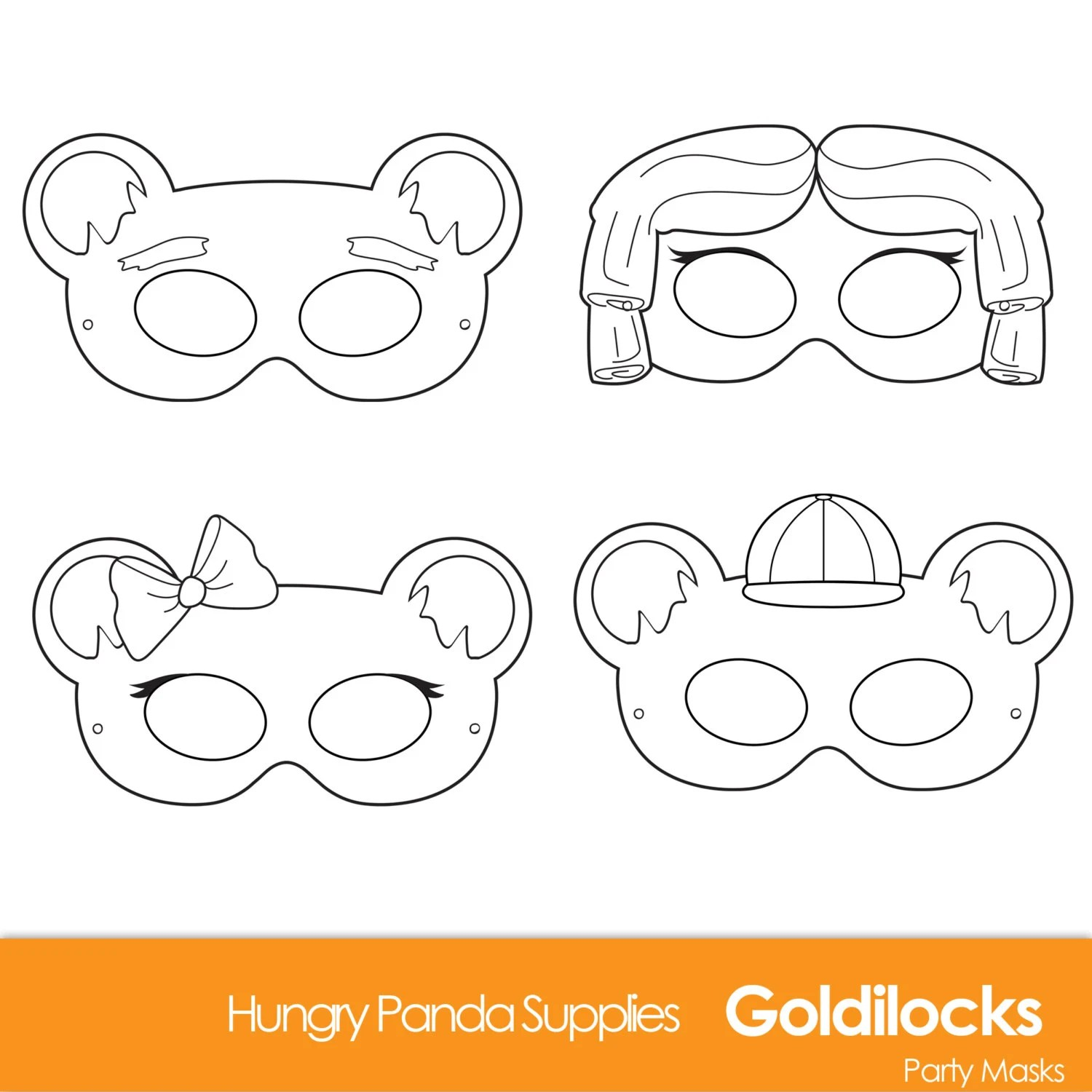 Goldilocks And The Three Bears Printable Masks Goldilocks