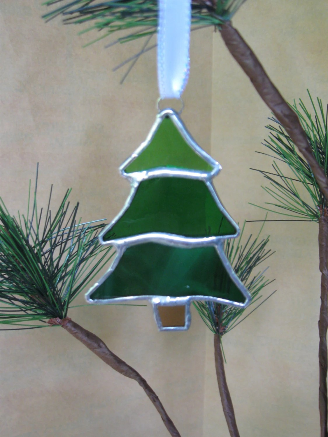 Stained Glass Christmas Tree Ornament 009