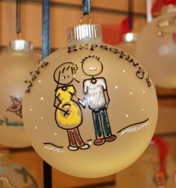 Expectant Couple Ornaments