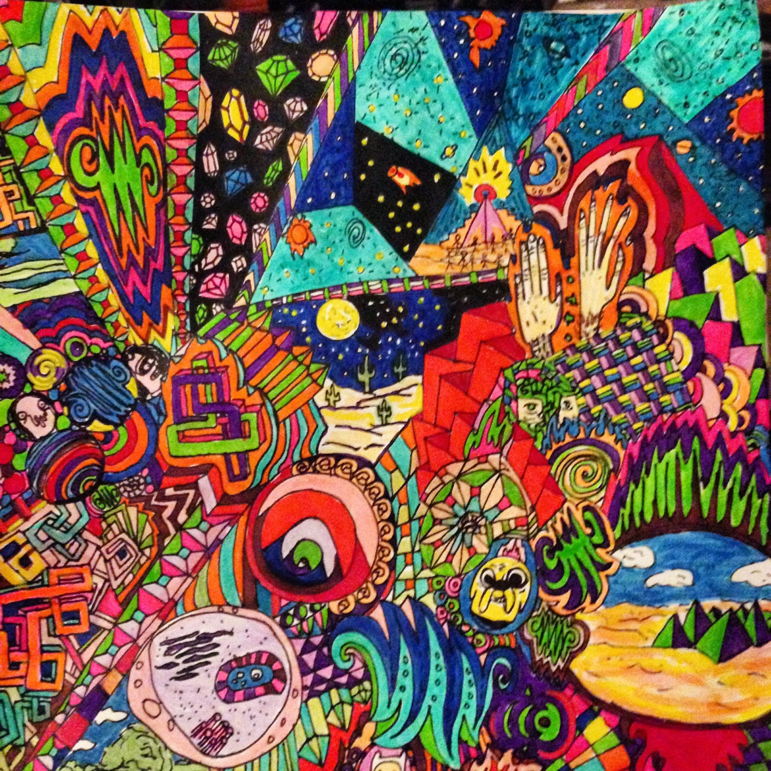 Time Adventure Backgrounds Trippy