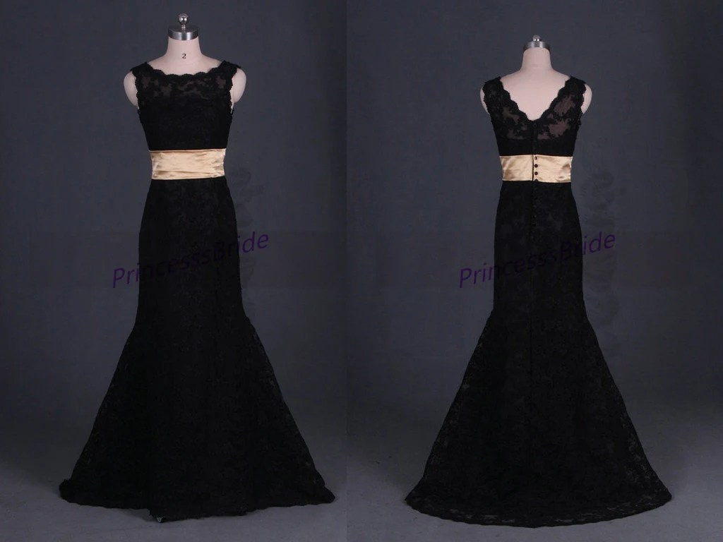 2016 Mermaid Black Lace Wedding Gowns In By PrincesssBride