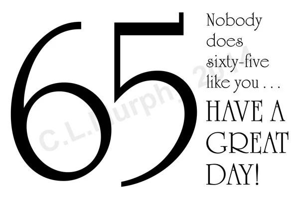 Download 65th Birthday Card Turning 65 Happy 65th Birthday