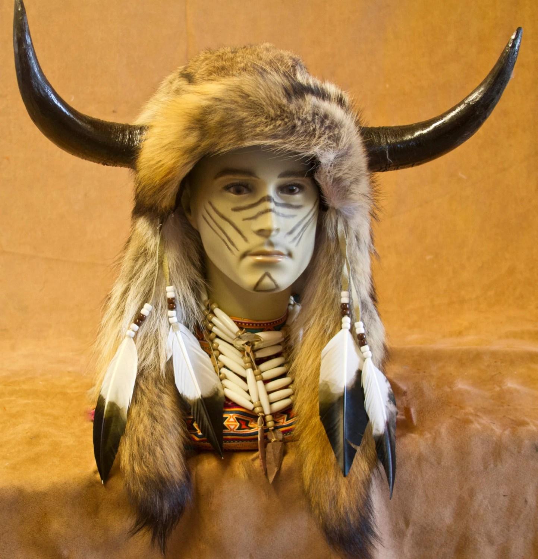 Imitation Native American Medicine Man Head Inh01