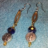 St Benedict SS Earrings - Exorcism Beads  Victorian Gothic