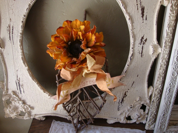 Items Similar To Fall Twig Leaf Wall Decor Autumn Harvest