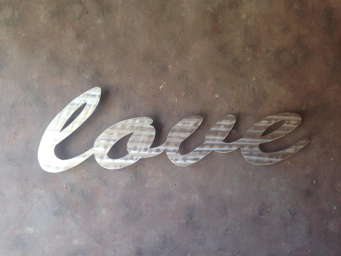 Love Large Metal Wall Art Word Art Love Art Metal Art