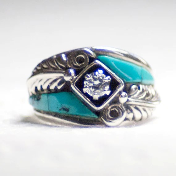 Izyaschnye Wedding Rings Navajo Turquoise Wedding Rings